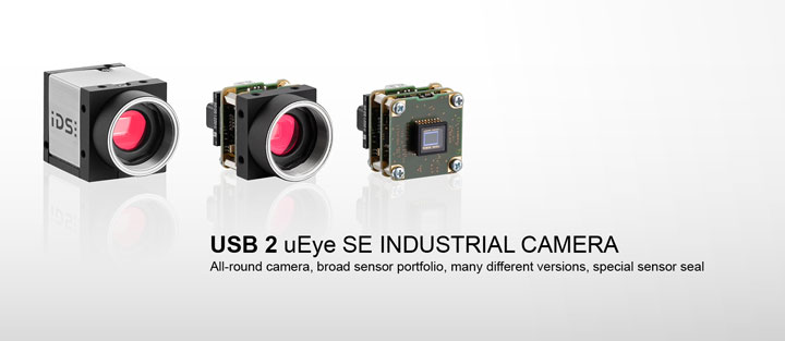 ---IDS industrial camera USB 2 uEye SE, CMOS camera as housing and board-level model