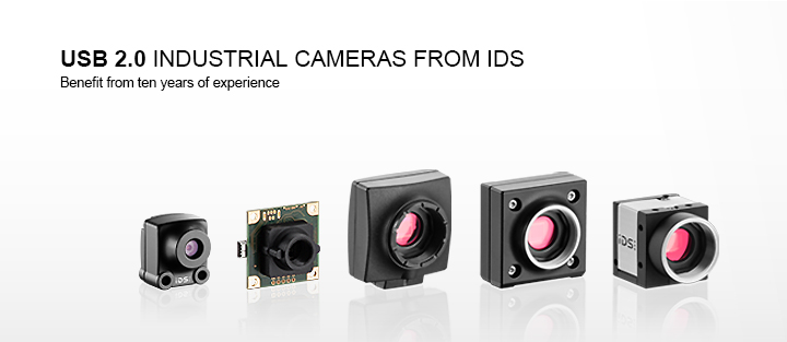 ---IDS USB camera families with USB 2.0 interface as CMOS camera, housing version and board camera